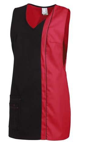 Überwurfschürze mit Tasche 2-farbig