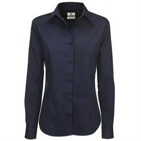 Bluse langarm 100% BW-Twill 8522 SWT83
