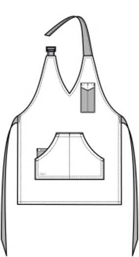 Damen-Latzschürze BLACK DENIM mit Kunstleder-Details LxB 65x70 cm