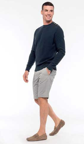 Herren Chino Bermuda Shorts mit Elasthan