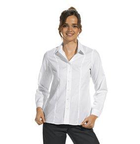 Stretch Bluse langarm bis 60 Grad waschbar
