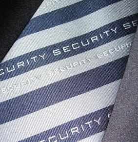 Krawatte Motiv Security