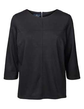 Damen Shirt Bluse 3/4 Arm Reißverschluss im Rücken 4201