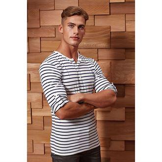 Herren T-Shirt LONG JOHN Krempelärmel PR218