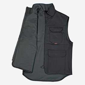 Workwear Sommer Weste schwarz aus Baumwolle