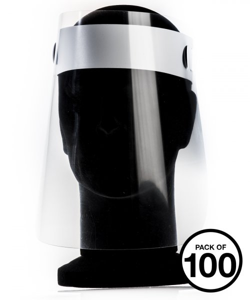Visier / Gesichtsschild glasklar für Gastronomie und Handel 100er Pack