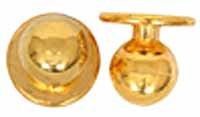 Kugelknöpfe - Kochjackenknöpfe (1 Pack = 12 Knöpfe) Farbe: gold
