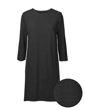 Damen Kleid 3/4 Arm Strukturstrick 4202