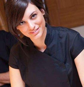 Damen Tunika kurzarm mit Asiakragen asymmetrisch