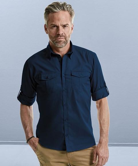 Hemd mit Krempelarm 2 Brusttaschen