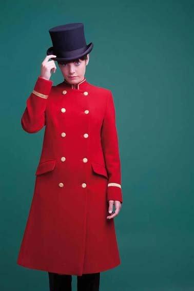 Uniform Mantel Woman mit Trim Varianten