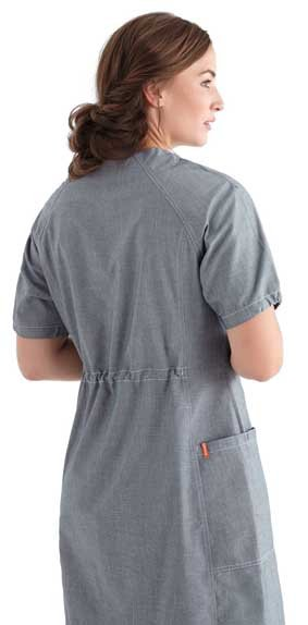 Kleid Housekeeping kurzarm chambray grau