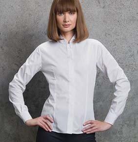 Bluse mit Mandarin-Kragen verd. Knopfleiste 1/1 Arm KK261