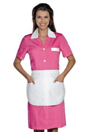 Hausmädchen-Kleid POSITANO 1/4 Arm fuchsia 008986G