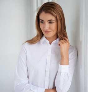 Basic Bluse SELENE 1/1 Arm Comfort Fit 65% BW / 35% PES