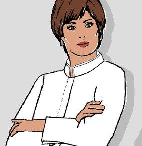Damen Servicejacke / Barjacke verd. Knopfleiste