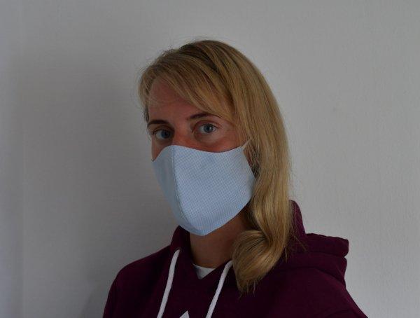 Mund- und Nasenmaske aus OP Stoff Formschnitt Gummiband / zum Binden