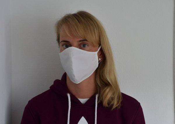 Mund- und Nasenmaske virendichter Stoff - Formschnitt - 95 Grad waschbar