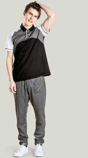 Poloshirt unisex kurzarm tri-color Natura®