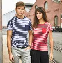Damen Ringel-T-Shirt Kurzarm BIO-Baumwolle
