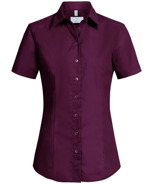 Bluse Stretch farbig kurzarm Regular Fit