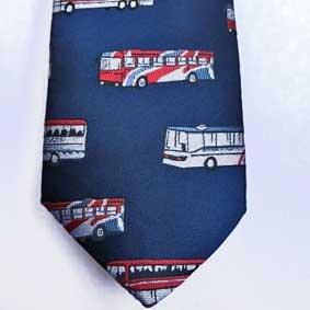Krawatte - Motiv Busfahrer ca. 8,5 cm breit