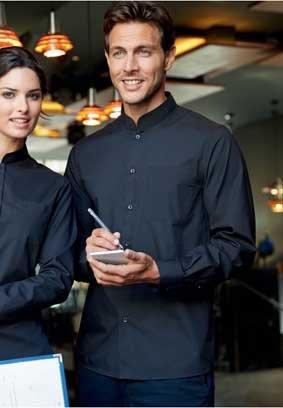 BAR Hemd mit Mandarin-Kragen langarm 8531/K515