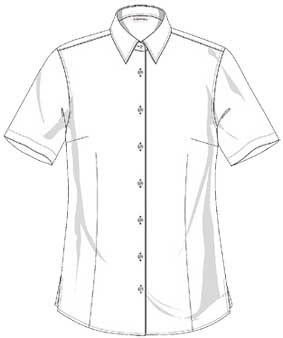 Bluse FRANKFURT kurzarm, Classic fit, leicht tailliert
