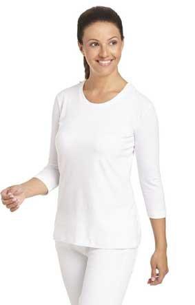 Damen Top T-Shirt 3/4 Arm weiss