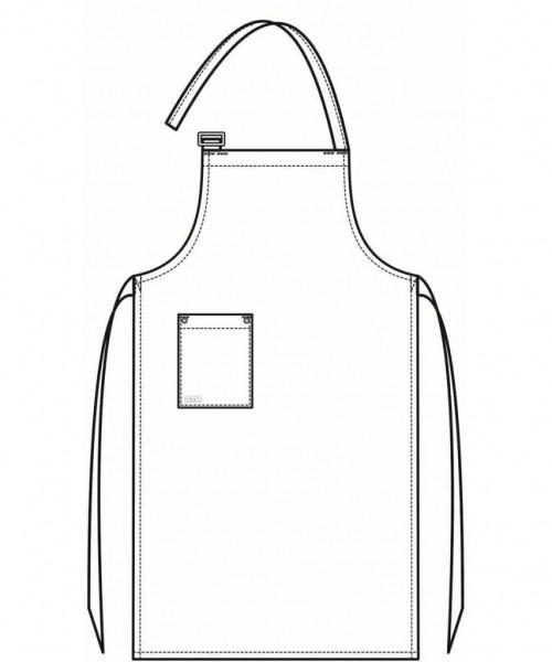 Latzschürze BLACK DENIM L100xB77 cm