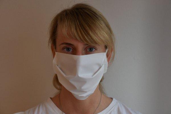 Mund- und Nasenmaske virendichter Stoff - waschbar mit Gummiband