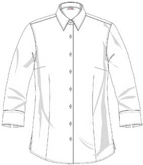Bluse FRANKFURT 3/4 Arm, Classic fit, leicht tailliert