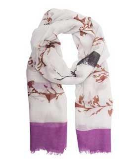 Leichter Schal lila/braun ca. 180 x 65 cm PES