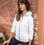 Sweat-Jacke mit Kapuze und Reißverschluss Damen BIO-ZIP HOODY