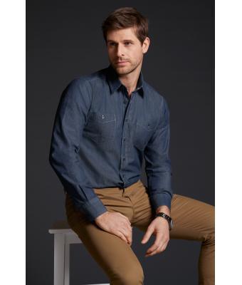 Herren Denim Jeans Hemd langarm JN629