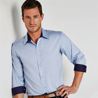 Premium Oxfordhemd mit Kontrast langarm KK189