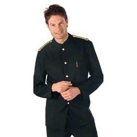 Herren Service Kellner Jacke COREANA NERO mit Schulterstücken 066201
