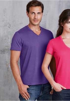 Herren T-Shirt kurzarm V-Ausschnitt