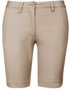 Damen Chino Bermuda Shorts mit Elasthan