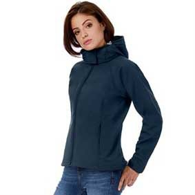 Damen Softshell Hooded Jacke 8522 B630F