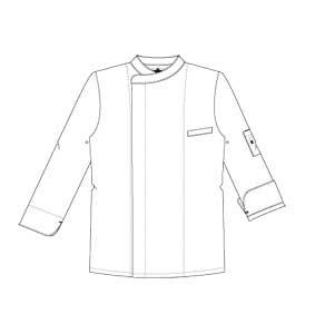 Kochjacke NOVA schwarz mit Satinstreifen 130941