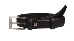 Hosengürtel schwarz Echt Leder 02414