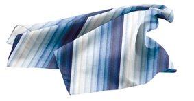 Tuch PES 70x70 cm Streifen Blautöne