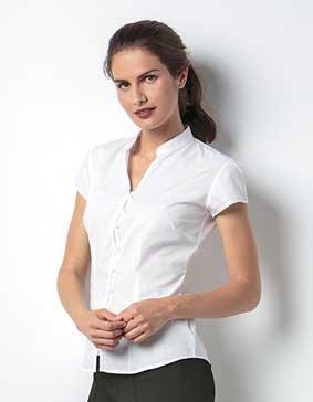 Bluse V-Ausschnitt Mandarin-Kragen 1/4 Arm 8522 KK727