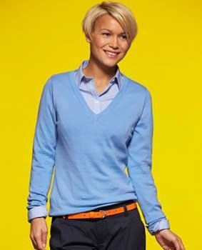 Damen Pullover V-Neck JN658