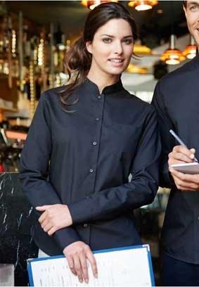 BAR Bluse mit Mandarin-Kragen langarm 8531/K514