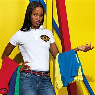 Damen Poloshirt Kurzarm 100% BW 200 gr 8522 AQ020
