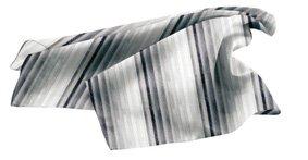 Tuch PES 70x70 cm Streifen Grautöne