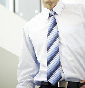 Krawatte PES Blautöne gestreift