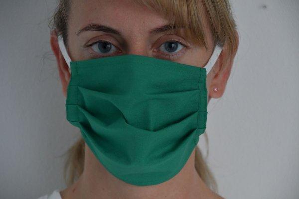 Mund- und Nasenmaske aus OP Stoff 95 Grad waschbar mit Gummiband / zum Binden